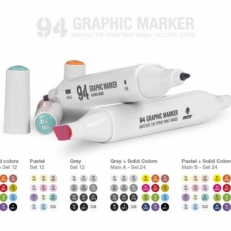 MTN 94 Graphic marker pack A grey (24db)