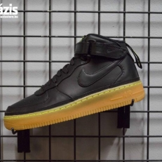 Nike Air Force 1 Mid LV8 GS 'Black Gum Volt'