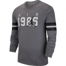 Air Jordan Sportswear Longsleeve Brand 6 Tee - Carbon Heather/ White/ Black