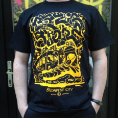 Bázis Store T-shirt 'Black Yellow'