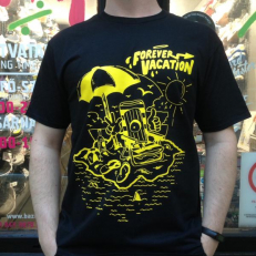 'Forever Vacation' T-shirt 'Black Yellow'