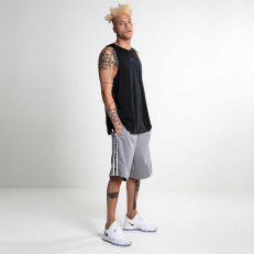 Jordan Air HBR Fleece Short - Carbon Heather/ Black
