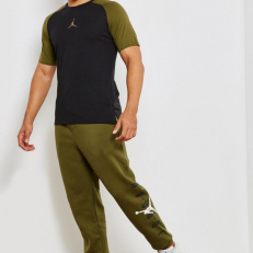 Jordan Jumpman Air GFX Fleece Sweatpants - Olive Canvas/ White