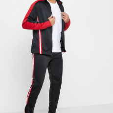 Jordan Jumpman Flight Suit Basketball Trousers - Black/ White/ Gym Red/ Black