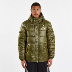 Jordan Jumpman Puffer Jacket - Olive Canvas/ Black/ White