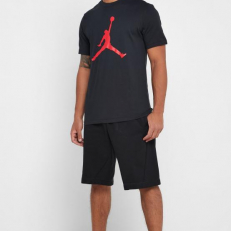 Jordan Jumpman SS Crew T-Shirt - Black/ Gym Red