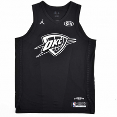 Jordan NBA All-Star Edition Authentic Jersey Russell Westbook OKC - Black/ White