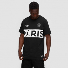 Jordan Paris Saint-Germain Workmark T-Shirt - Black/ White