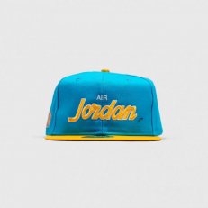 Jordan Pro Script Cap - Light Blue Fury/ University Gold - Pine Green