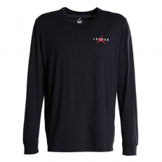 Jordan Sportswear Air Jumpman Logo Long-Sleeve T-Shirt - Black/Gym Red
