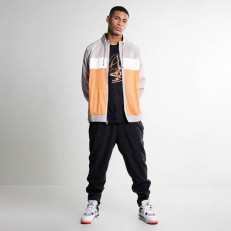 Jordan Wings Basketball Flight Suit Jacket - Ornage Trace/ Moon Particle/ White