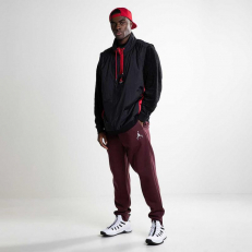 Jordan Wings Of Flight 1/4 Zip Fleece Jacket - Black/ Gym Red/ Gym Red