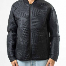 Nike Fill Quilted Bomber Jacket - Black/ Black