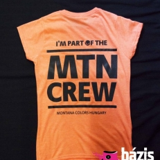 MTN Crew Wmns T-shirt (orange-black)