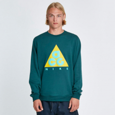 Nike ACG Crew Fleece Sweatshirt - Dark Atomic Teal/ Vivid Sulfur