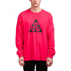 Nike ACG Long-Sleeve Logo T-Shirt - Rush Pink/ Black
