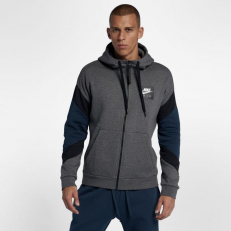 73e5715e5b76 Nike Air Fleece Full-Zip Hoodie - Charcoal Heather