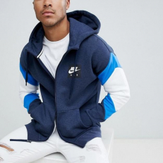 1e1ea58ccf Nike Air Fleece Full-Zip Hoodie - Heather Blue/White