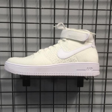 Nike Air Force 1 Ultra Flyknit Mid 'Triple White'