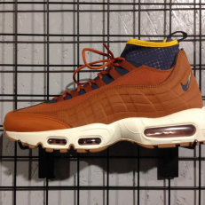 Nike Air Max 95 Sneakerboot - Dark Russet/ Tunder Blue/ Light Bone/ Yellow