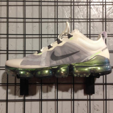 Nike Air Vapormax 2019 Premium - White/ Dark Grey - Platinum Tint - Lime Blast