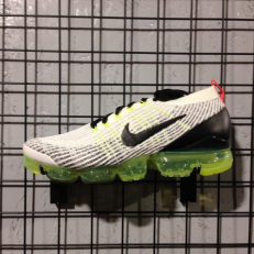 Nike Air VaporMax Flyknit 3 White Black Volt Bright Crimson