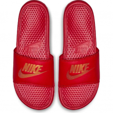 Nike Benassi JDI Slide - University Red/ Metallic Gold