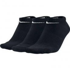Nike Performance Lightweight No-Show 3 Pair Socks - Black/ Black