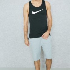 Nike Breathe Elite Dri-Fit Basketball Tank - Black/ White