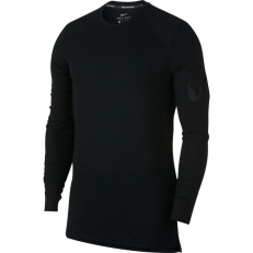 Nike Breathe Elite Long-Sleeve Basketball Top - Black/ Black