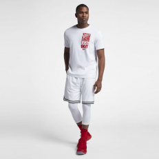 Nike Dri-Fit Just Do It Basketball T-Shirt - White/ White