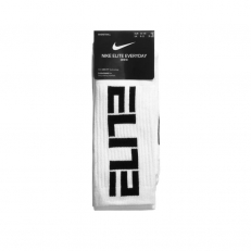 Nike Elite Everyday Crew Socks 3 Pair - White/ Black