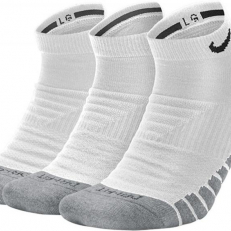 Nike Everyday Max Cushioned No-Show 3 Pair Socks - White/ Wolf Grey/ Black