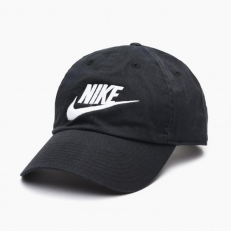 Nike Futura Washed H86 Cap - Black/ White
