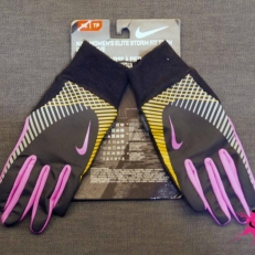 Nike Gloves (Black-pink)