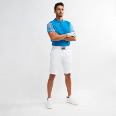 Nike Golf Dri-Fit Classic Stripe Polo - Azul Nebulose/ Blanco