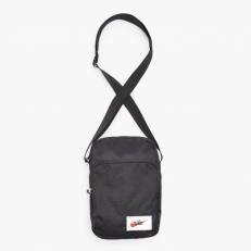 Nike Heritage Cross Body Bag - Black/ Black/ Orange Blaze