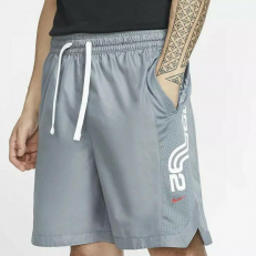 Nike Kyrie Dri-Fit Basketball Shorts - Cool Grey/ Cool Grey/ University Red