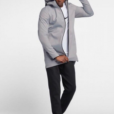 Nike M Protect Basketball Jacket - Wolf Grey/ Black