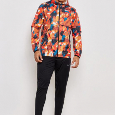 Nike M Shield Ghost Flash Running Jacket - Rouge Habanero