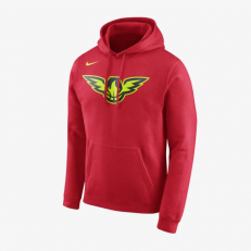 Nike NBA Atlanta Hawks Logo Hoodie - University Red