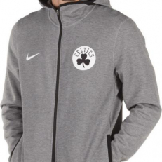 Nike NBA Boston Celtics Dry Showtime Full-Zip Hoodie - Heather/Black