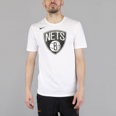 Nike NBA Brooklyn Nets Logo Dri-Fit T-Shirt - White