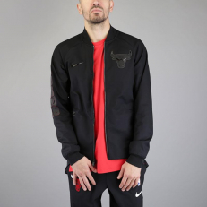 Nike NBA Chicago Bulls City Edition Modern Varsity Jacket - Black