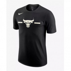 Nike NBA Chicago Bulls Logo Dri-Fit T-Shirt - Black/ Sail