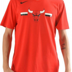 Nike NBA Chicago Bulls Logo Dri-Fit T-Shirt - University Red