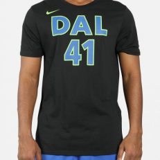 Nike NBA Dallas Mavericks Dirk Nowitzki Dri-Fit T-Shirt - Balck