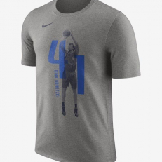 Nike NBA Dallas Mavericks Dirk Nowitzki Dri-Fit T-Shirt - Dark Grey Heather