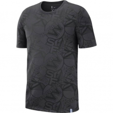 Nike NBA Golden State Warriors All Over Print Tee - Anthracite