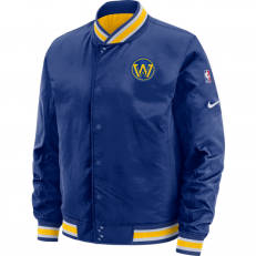 Nike NBA Golden State Warriors Courtside Reversible Jacket - Rush Blue